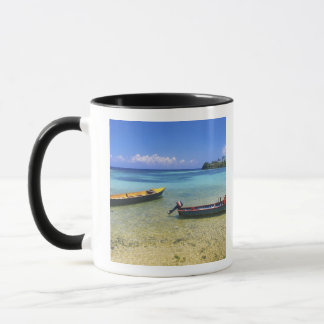 Mug Bateaux de pêche, plage de Boston, port Antonio,