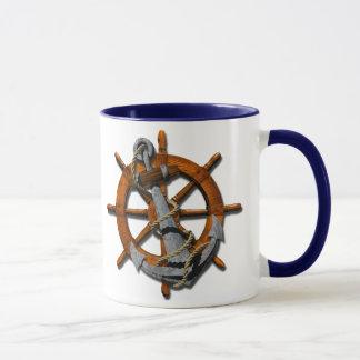 Mug Bateaux nautiques roue et ancre