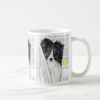 Mug Bath noir de Sheltie de Bi