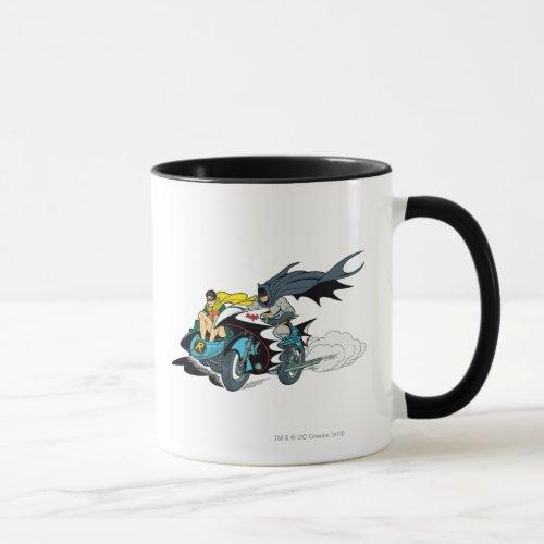 Mug Batman et Robin dans la Batcycle
