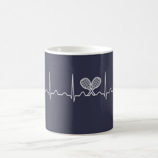 Mug Battement de coeur de tennis