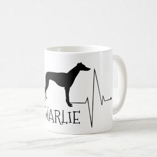 Mug Battement de coeur personnalisé de chien d'amour