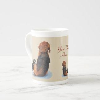 Mug Beagle mignon de chiot avec l'art de réaliste de