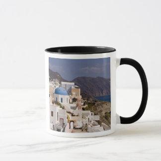 Mug Beau village d'Oia avec les bâtiments blancs