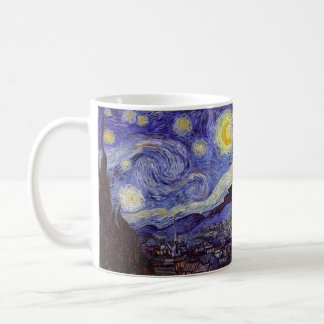 Mug Beaux-arts de cru de nuit étoilée de Vincent van