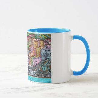 Mug Belle, colorée, stylisée peinture de Manarol
