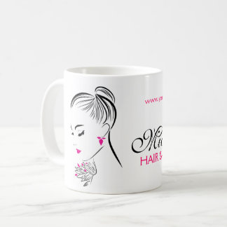 Mug Belle femme avec le marquage à chaud rose de