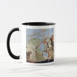 Mug Bellerophon, Pegasus de monte, massacrant les