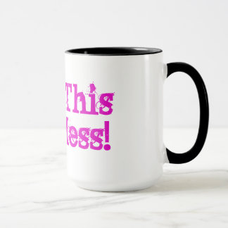 Mug Bénissez ce désordre chaud ! Poignée Tasse-Noire