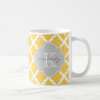Mug Beurre de miel et copie grise de Quatrefoil de
