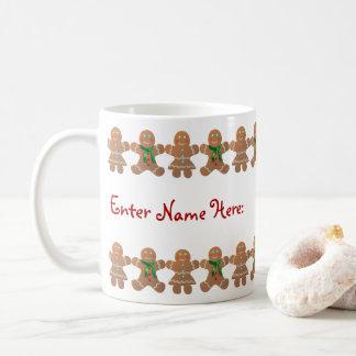 Mug Biscuits de pain d'épice célébrant Noël