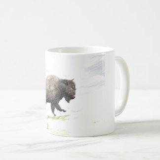 Mug Bison dans la tempête d'hiver