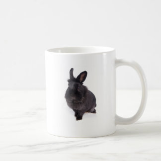 Mug black rabbit