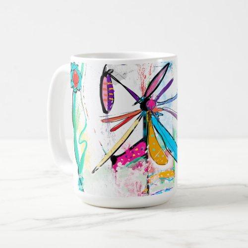 Mug blanc, 444 ml, Alice's Garden II