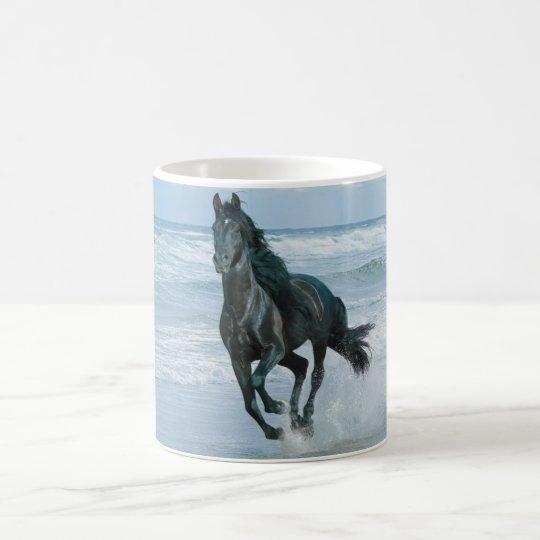 Mug blanc cheval