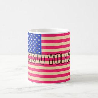 Mug blanc Drapeau USA NEW YORK