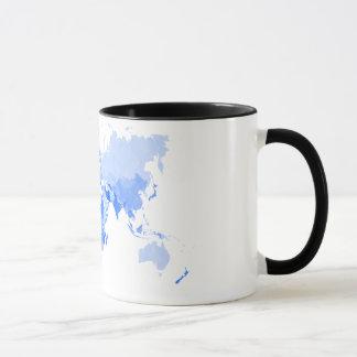 Mug Bleu-clair chiffonné de carte du monde