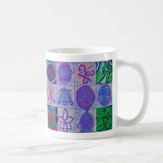 Mug Bleu curatif de Havenly des signes 12 de Reiki