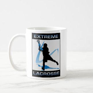 Mug Bleu extrême de garçons de lacrosse