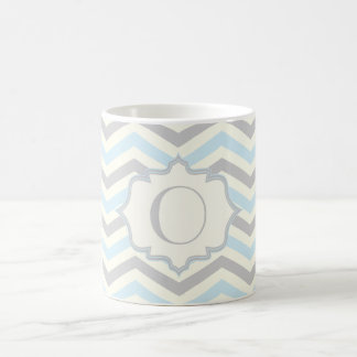Mug Bleus layette modernes, gris, motif en ivoire de