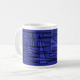 Mug blue triangle