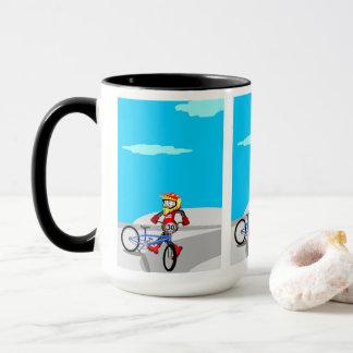 Mug BMX enfant en naissant pirouettes avec sa