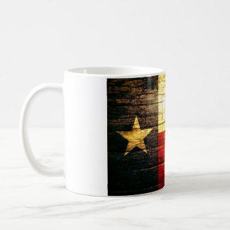 Mug Bois de drapeau du Texas vieux