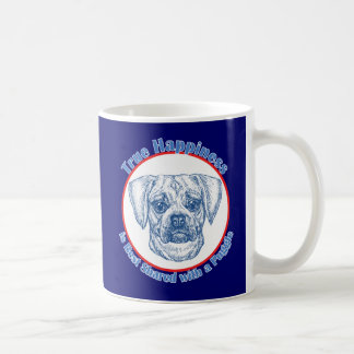 Mug Bonheur vrai avec un Puggle
