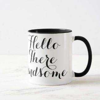 Mug Bonjour là typographie belle
