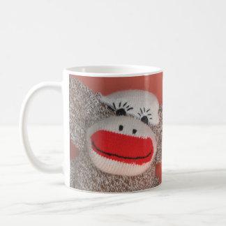 """Mug Bonjour singe de chaussette """"! """""""