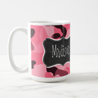 Mug Bord Camo rose ; Camouflage ; Rétro tableau
