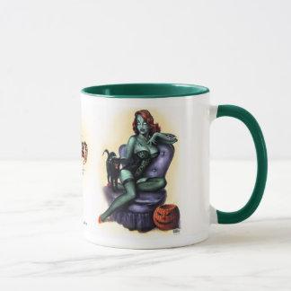 Mug Borne de fille de zombi d'anniversaire d'art de
