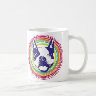 Mug Boston Terrier - cercles colorés