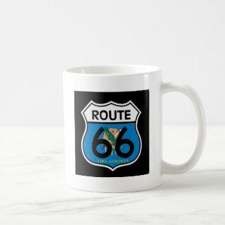 Mug Bouclier de l'itinéraire 66 de drapeau de