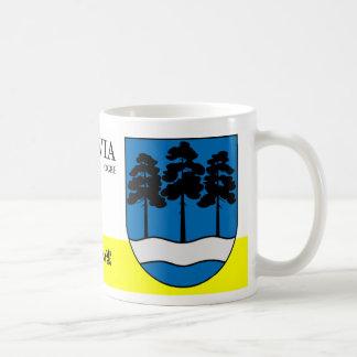 Mug Bouclier de nature de rivière et d'arbres d'ogre