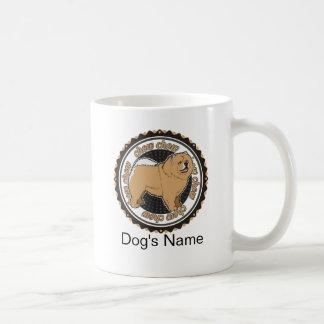 Mug Bouffe de bouffe personnalisée de chien avec le