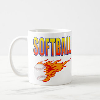 Mug Boule blanche de flamme du base-ball