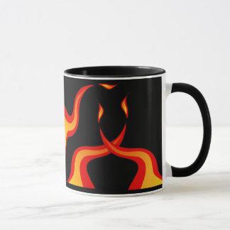 Mug boule flamboyante de panier