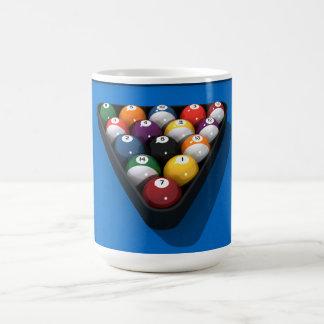 Mug Boules de piscine sur le bleu senti :