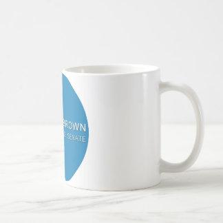 Mug bouton brun de campagne de Scott