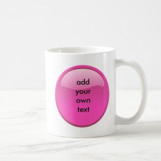Mug bouton rose
