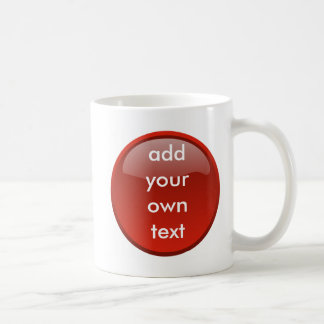 Mug bouton rouge foncé