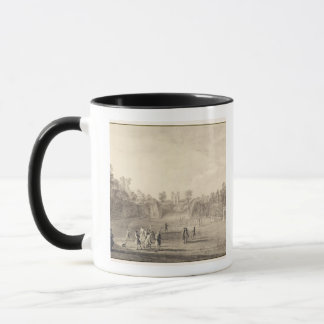 Mug Bowling Green chez Claremont, 1738 (gravure)