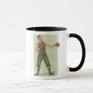 Mug Boxeur vintage avec des troncs de long vert
