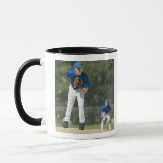Mug Broc de base-ball préparant pour lancer la boule