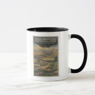Mug Brochure rocheuse de parc national de Mt. # 1