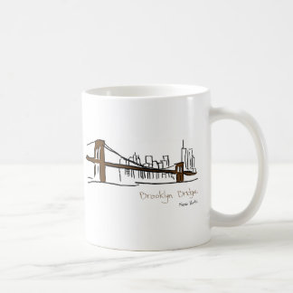 Mug Brooklyn bridge New york illustration au trait