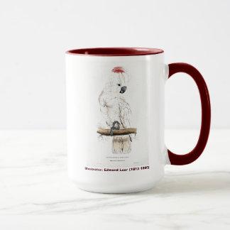 Mug Cacatoès Saumon-Crêté d'oiseau d'Edward Lear