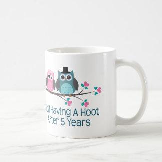 Mug Cadeau pour la 5ème huée d'anniversaire de mariage