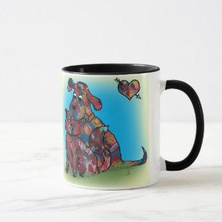 Mug Cadeau unique - chien et amoureux de les chats -